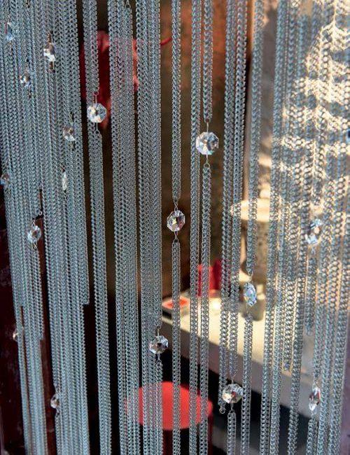 Chainmail curtain drops